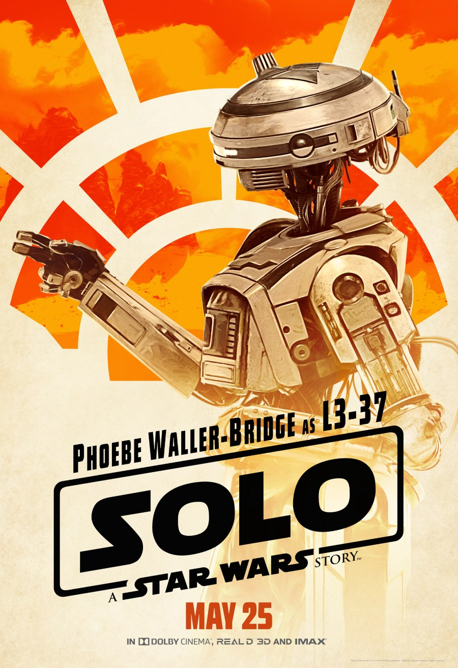Phoebe Waller-Bridge is L3-37, The New Droid on the Block #HanSoloEvent