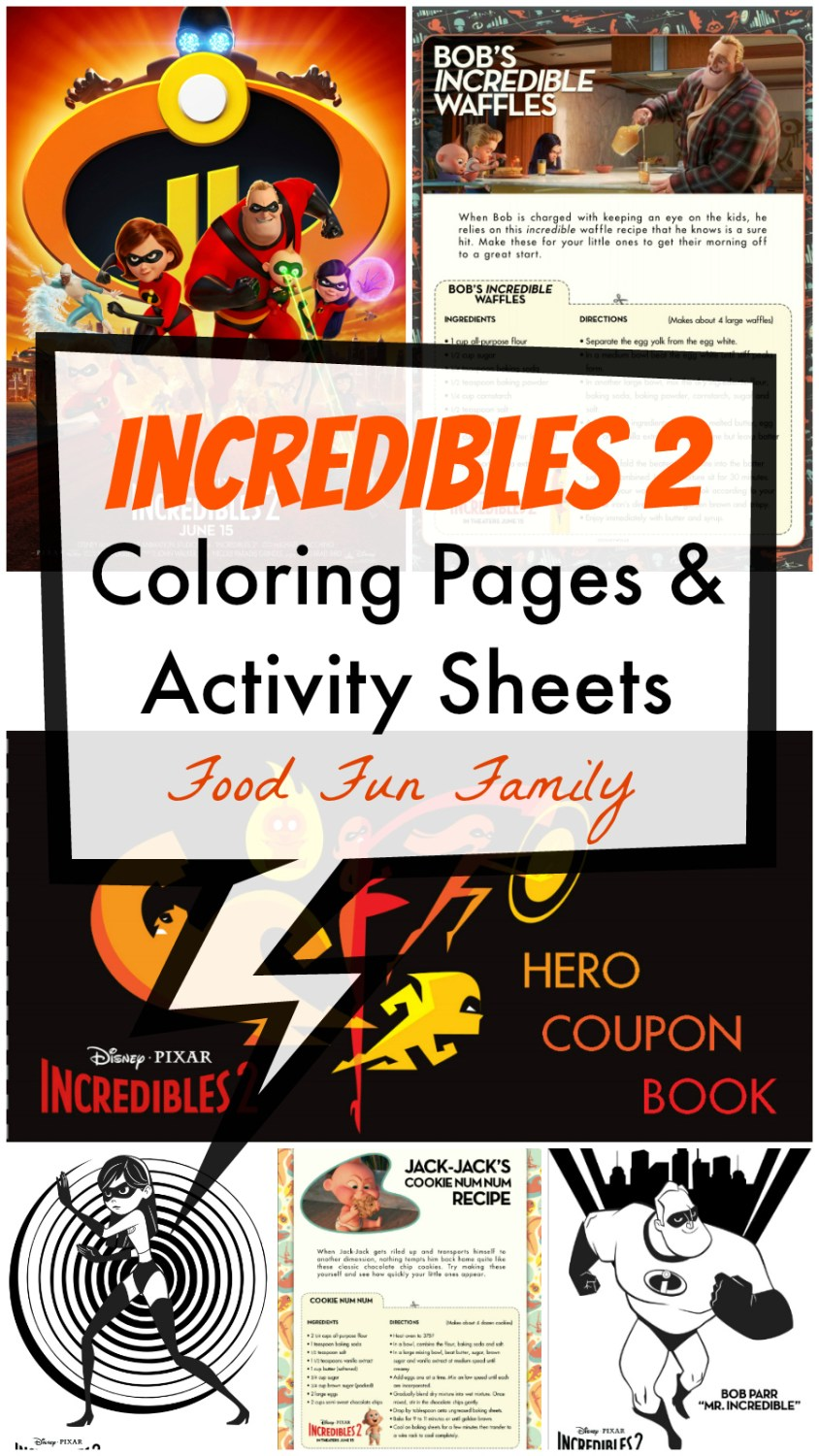 Incredibles 2 Coloring Pages Activity Sheets