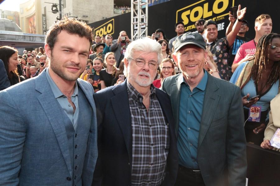 Alden Ehrenreich, George Lucas, Ron Howard