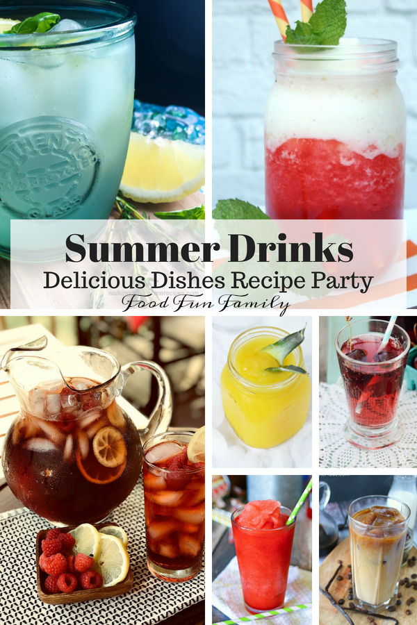 Non-Alcoholic Cold and Refreshing Summer Drinks - Delicious Dishes Recipe Party with Food Fun Family