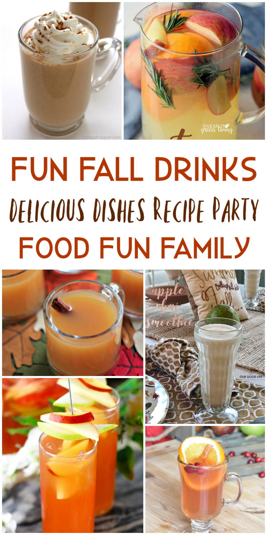 Fun fall drinks (family-friendly!) - a Delicious Dishes Recipe Party from Food Fun Family