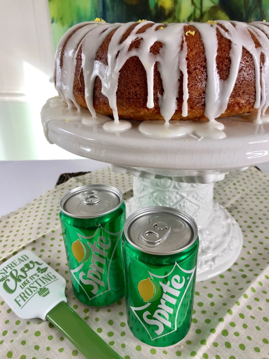 Sprite Bundt Cake with Lemon Frosting