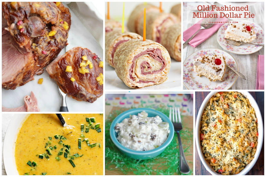 6-course Easter Dinner recipe plan - a Delicious Dishes Recipe Party post with Food Fun Family