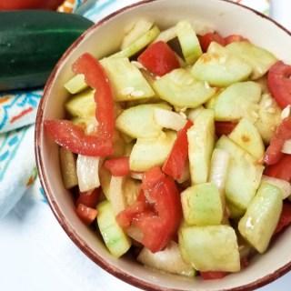 Garden-fresh Cucumber tomato salad