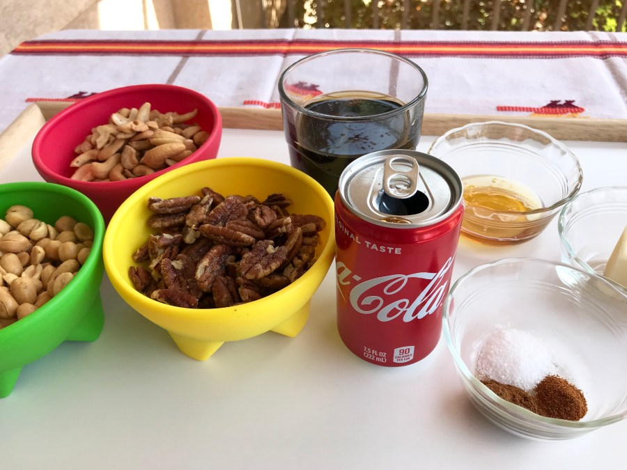 Coca Cola Spicy-Sweet Mixed Nuts Recipe