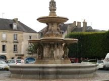A lovely fountain in Bayaux