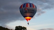 RAF balloon. Who needs a basket?