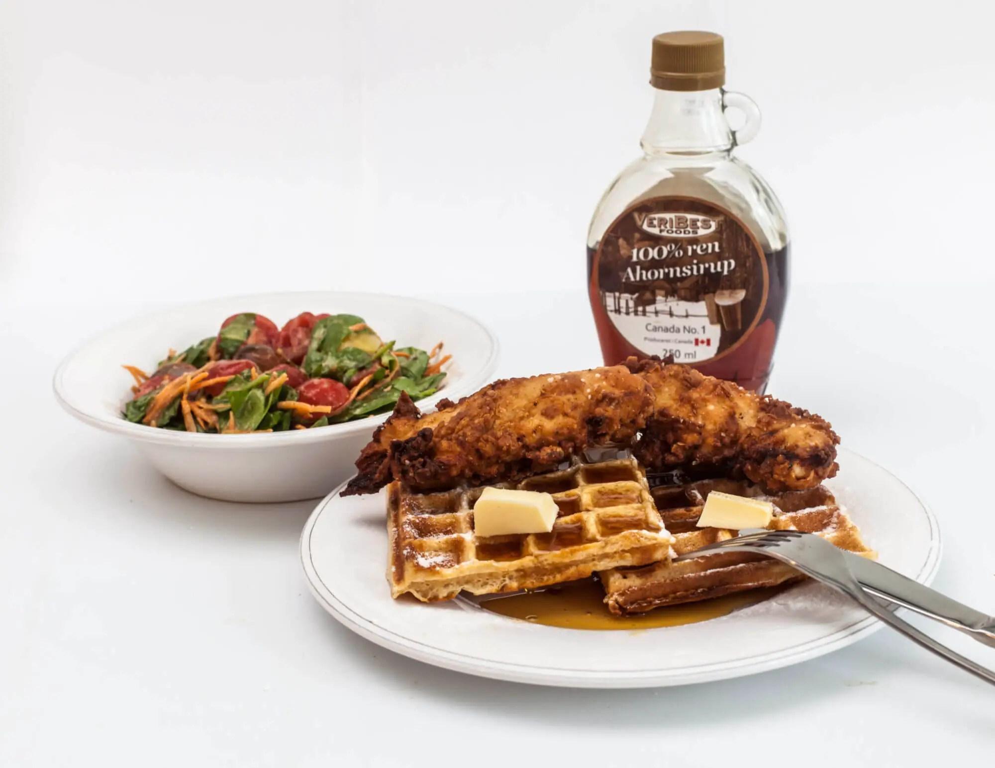 Chicken and waffles opskrift