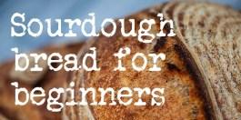 Sourdough bread for beginners