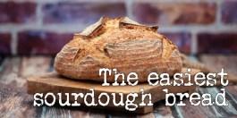 The world's easiest sourdough bread
