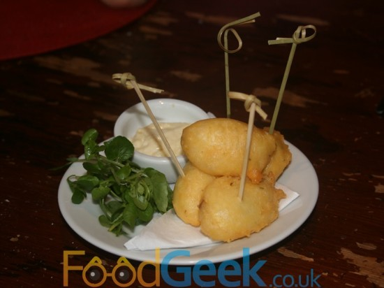 Gamekeeper Menu Canapés: Potato Fritters