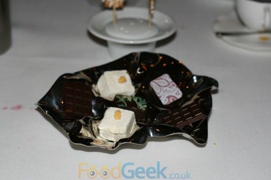 Passion Fruit Marshmallow / Chocolate Petit Fours