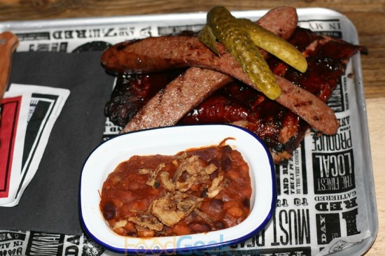 St Louis Ribs, Texas Hot Links & BBQ Pit Beans