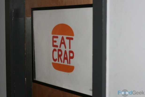 Eat Crap Sign