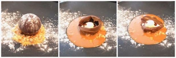 Tobacco Smoked Banana, Nut Crumble, Chocolate, Soy Caramel @ A.Wong