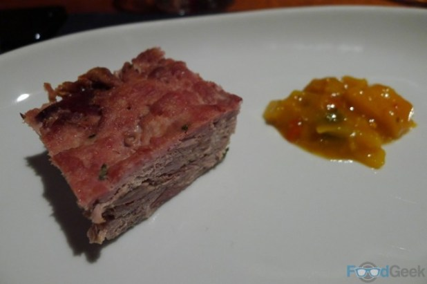Pressed Duck with Piccalilli
