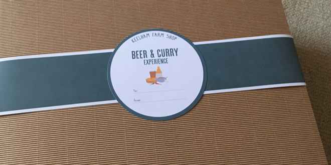 Beer and Curry Experience Taste Box from Kelham Farm Shop