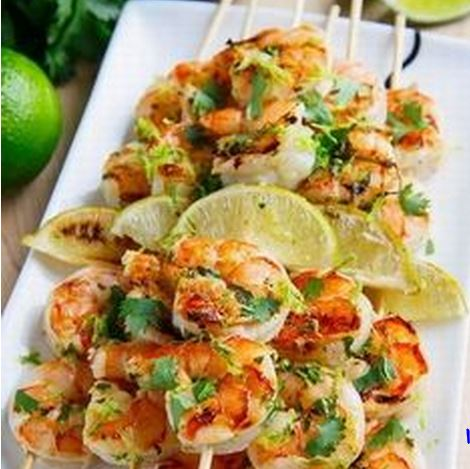 Cilantro Lime Grilled Shrimp - Recipes Hut