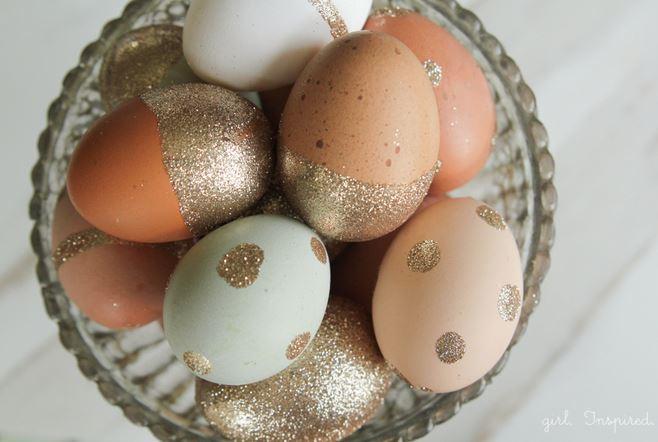 glitter eggs