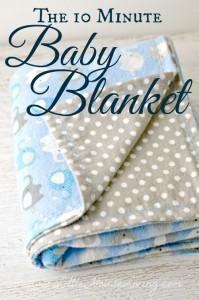 10 Minute Baby Blanket
