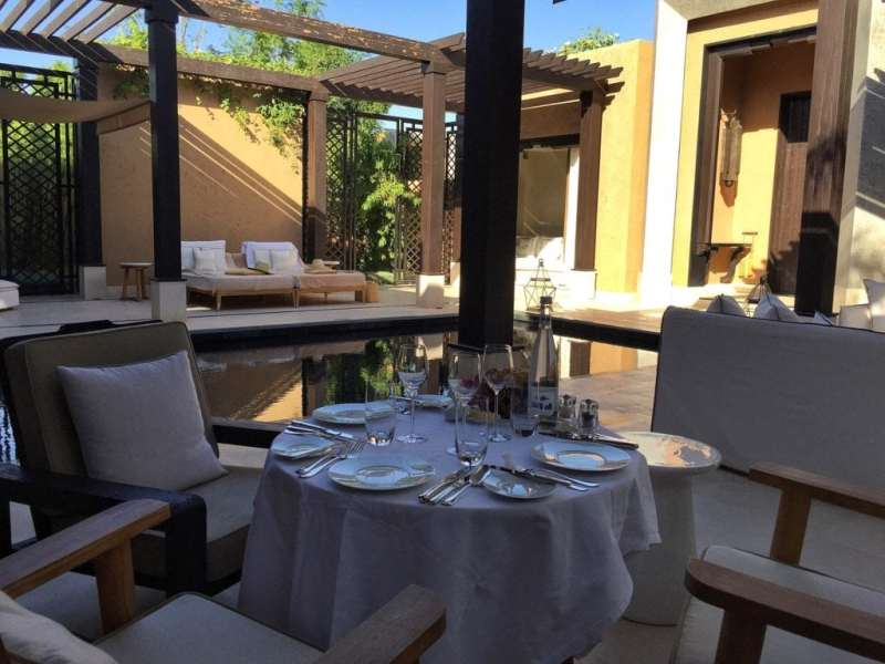 Foodicles Mandarin Oriental Marrakech In Villa Dining 1