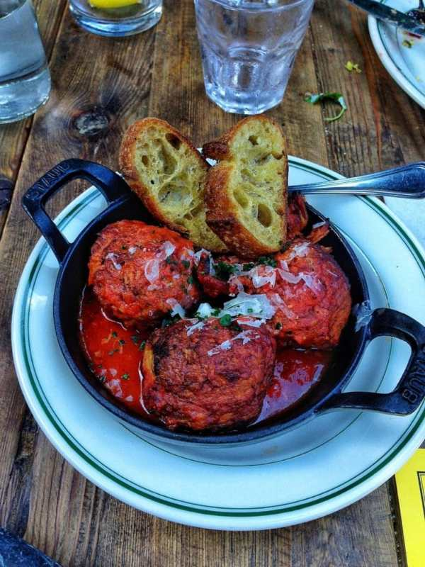 Pizzeria Delfina Meatballs