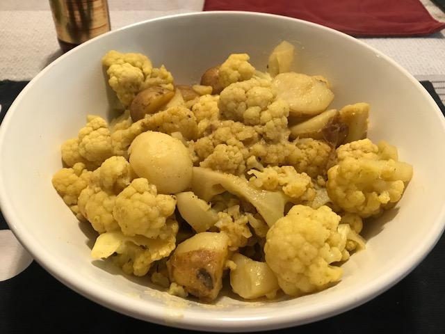 Curried Cauliflower and Potatoes