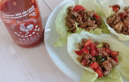 Spicy Chicken and Lettuce Wraps