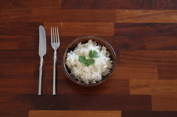 Instant Pot Basmati Rice Cooked in Bowl