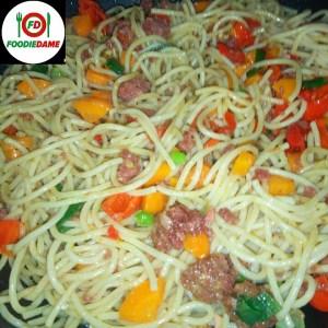 beef spaghetti vegetale