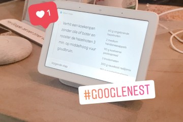 Google Nest Hub in de keuken