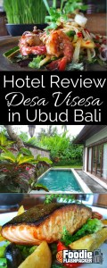 The Desa Visesa Ubud is unlike any hotel I've ever visited. The hotel is actually part of an authentic, functioning traditional village. The village is surrounded by lush green organic rice paddies, and staying in the village allows you to glimpse authentic Balinese life even as you enjoy all the comforts of a high end property.