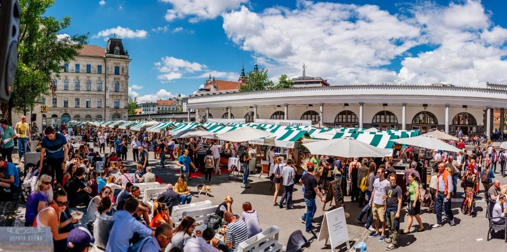The best high end food market I've ever attended - Open Kitchen (Odprta Kuhna) Ljubljana, Slovenia