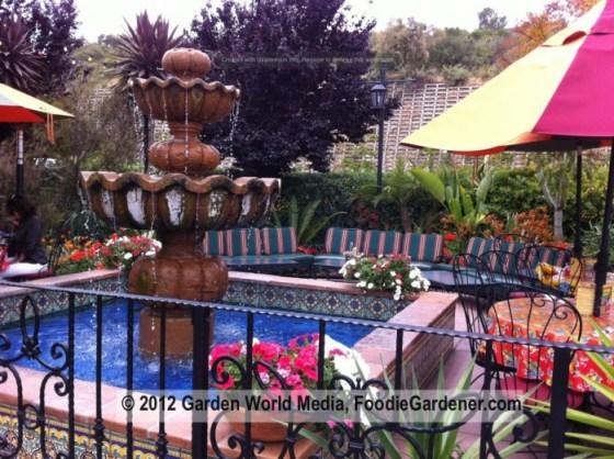 Casa de Bandini outdoor fountain in patio