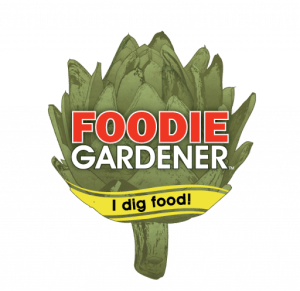 foodie gardener logo. Grow food with style, I dig food