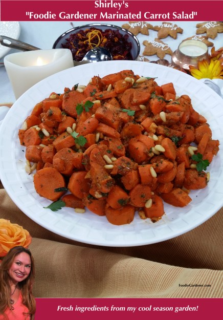 Foodie Gardener Marinated Carrot Salad by shirley bovshow