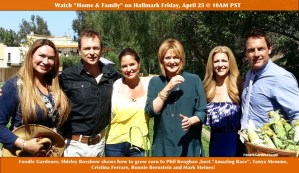 shirley bovshow teaches how to grow corn to phil keoghan tanya memme cristina ferrare mark steines bonnie bernstein home and family show