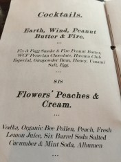 HD menu cocktails