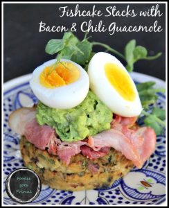 Fishcake Stacks with Bacon & Guacamole {LCHF, Banting, Paleo}3
