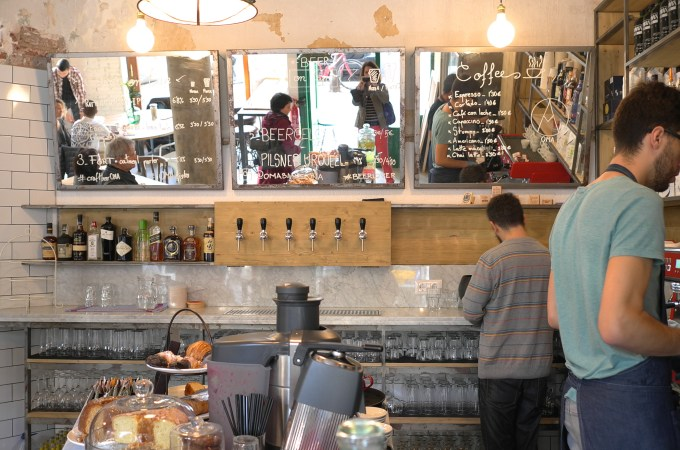 Craft beer on tap at Oma Bistro