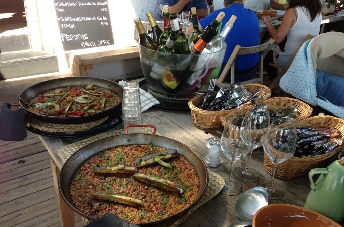 Paella at Barracuda in Castelldefels