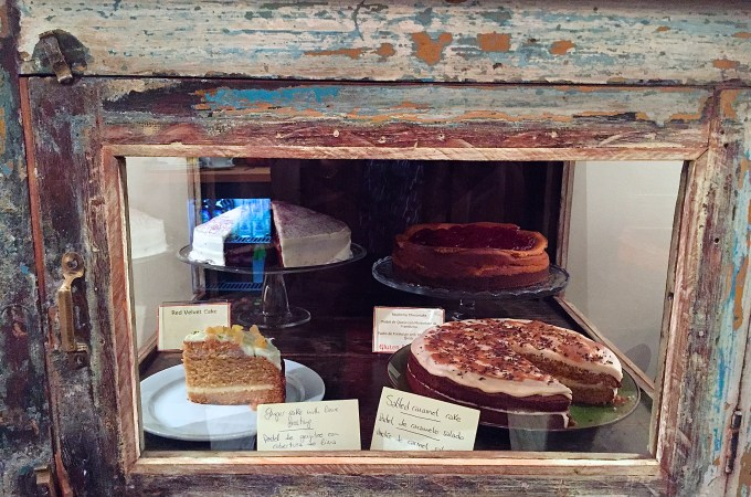 Spice Cafe cake cabinet