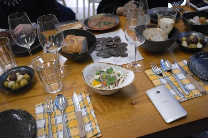 A selection of food at Bar Matis