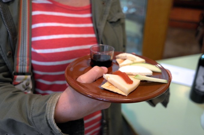 Small cheese sampler at La Seu