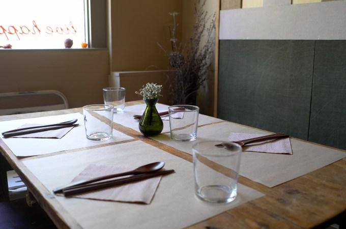 The table setting at Koryo