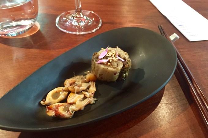 Black kimchi and tiny squid