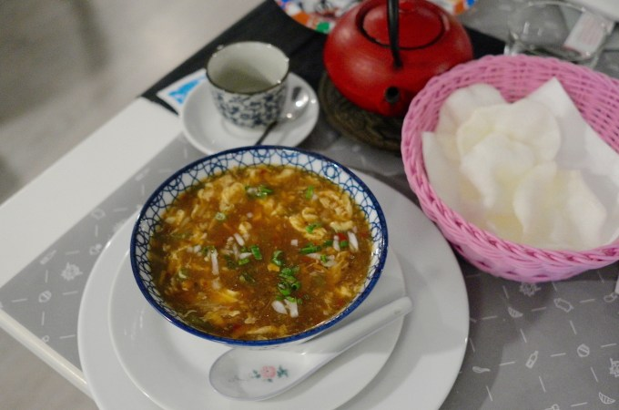 Hot and sour soup at Melo-Jia