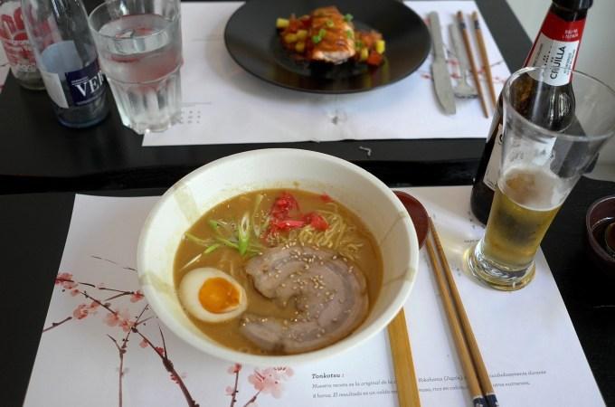 A bowl of Ramen at Tonkotsu