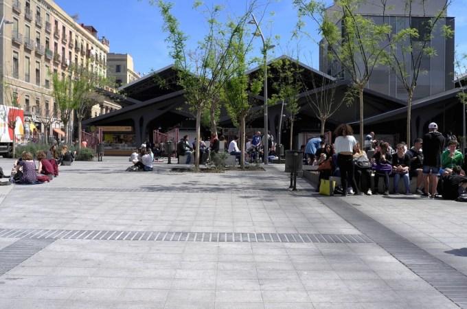 The back of the Boqueria market