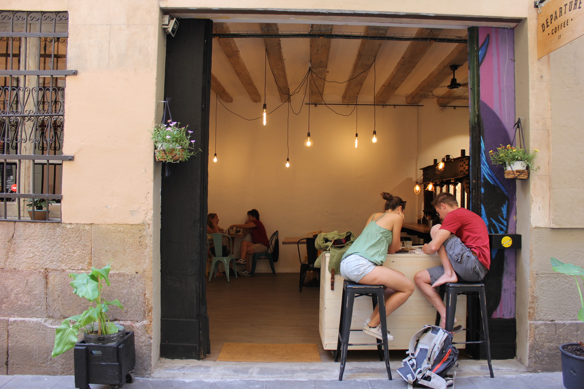 Escaping the heat in El Raval